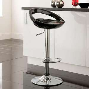 Crescent Bar Stool - Black - £24.50 @ ASDA Direct