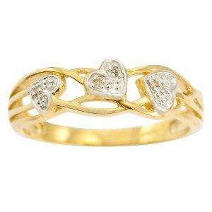 9ct Yellow Gold Ladies' Celtic Style Diamond Set Leaf and Interlacing Stem Ring (Sizes M-V) £44.66 delivered @ Amazon