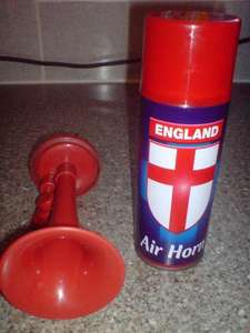 England air horn...£1.00 @ Poundworld