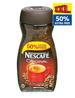 Nescafe Original/decaf 50% free 300g ASDA £4