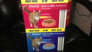 Vitacat cat food 12 pouches £1.99 only @ Aldi