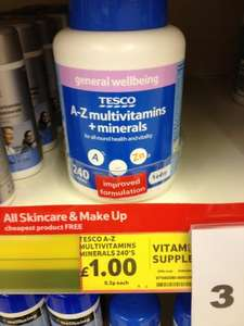 A-Z Multivitamins & Minerals (240 caps) 1 a day - ONLY £1 @ Tesco