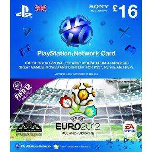 Playstation Network Card / PSN - ASDA - £16 down to £13