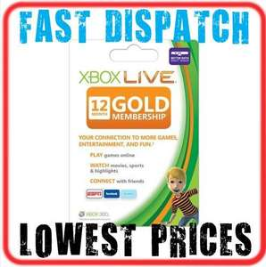 12 Month Xbox LIVE GOLD Membership Subscription - £25.89 delivered @ Ebay / ozsave-games