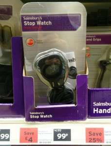 Decent Stopwatch With Time/Calendar/Alarm -  Just 99p Saving £4 Plus Other Bargains - Sainsburys Instore