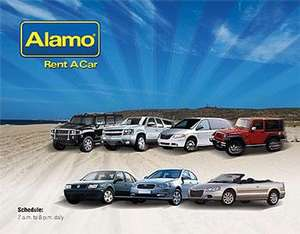 Alamo 3 for the price of 2 on wekeend UK car hire