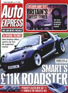 Six issues of Auto Express £1 plus free 26 piece toolkit