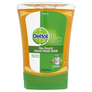 Dettol No Touch Hand Wash Original Refill 250ml @ Home Bargains