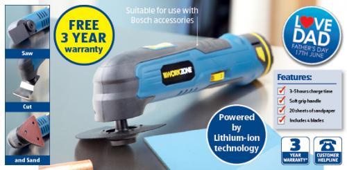 Cordless Multifunction Cutting tool Multi Tool £39.99 @ Aldi