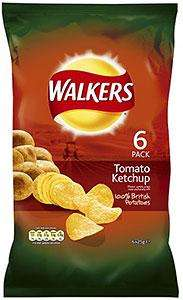 Walkers Tomato Ketchup Crisps 6 Pack 69p @ Home Bargains