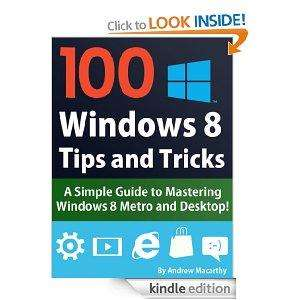100 Windows 8 Tips, Tricks, and Secrets Kindle eBook for Free from Amazon