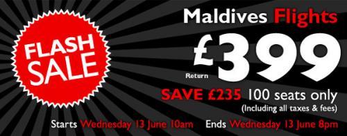 Maldives for £399 return @ Flight Centre