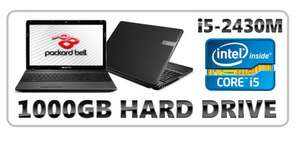 Packard Bell, Intel® Core™ i5-2430, 1TB Hard Drive, 8GB RAM @ ebay save-on-laptops £399.99