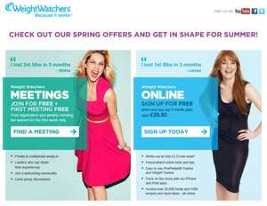 3 months online membership at Weight Watchers £31.85 (£1.85 after Quidco)