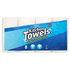 8 Pack White Kitchen Towels  Half Price £2.40 @Tesco