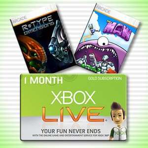 Free 1 Month of Xbox Live Gold AND 2 Xbox Live Arcade Games @ Raptr