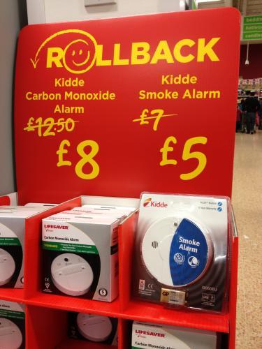 LIFESAVER Kidde Carbon Monoxide Detector NOW £8 @ Asda instore and online - was £12.50