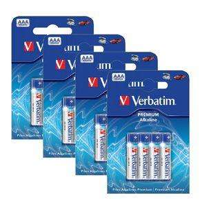 Verbatim Premium Alkaline AAA Batteries - 16 Pack for £1.48 Delivered @ Ebuyer