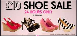 24 hour £10 shoes sale @ punkyfish plus free footless tights with every order