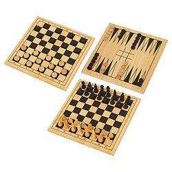 Wooden 3 In 1 Chess, Draughts & Backgammon £2.50 R&C @ Tesco
