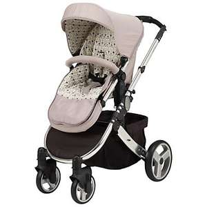 John Lewis Complete Travel System Pushchair/Pram in Sand & Black £200 (was £400) includes Car Seat! Free Delivery!