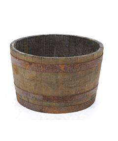 INSTORE...Half Whisky Barrel Planter at Homebase..... Two for £32 or £30 each