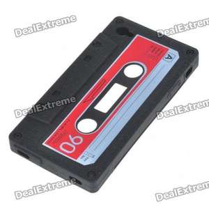 Retro Cassette Tape Silicon Case for iPhone 4 - 13p Delivered @ Dealextreme