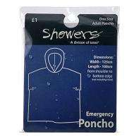 Clear Unisex Rain Poncho, 97p @ ASDA (In Store & Online)