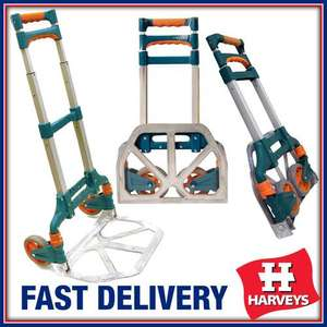 60KG HEAVY DUTY FOLDING HAND SACK TRUCK TROLLEY CART FOLDABLE BOOT CAR TRUCK NEW £16.49 + £4.95 del - Harveys-uk on Ebay