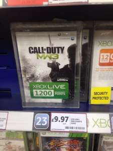 1200 Microsoft MS Points Card COD MW3 Design Xbox 360 £9.99 @ Tesco Instore