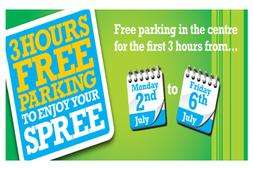 3 Hours Free parking at the Potteries Shopping Centre