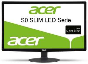 Acer S240HLbid 24 inch Full HD widescreen LCD monitor with LED Backlight (16:9, 100,000,000:1, 1920 x 1080, 5ms, HDMI/DVI) - Black @ Amazon warehouse £111.92