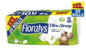 Floralys Ultra Strong Toilet Tissue 3 Ply - 20 Rolls Now £4.99 @ Lidl