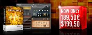 50% off Native instruments Kontakt + 9 other add ons
