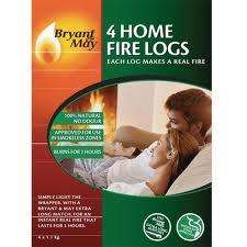 Bryant and May Home Fire logs pack of 4 £3.99 Home Bargains