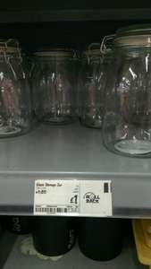 1 Litre Glass Kilner Storage Jars £1 each at ASDA In Store