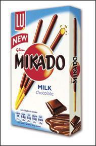Mikado biscuit sticks 75p in Asda