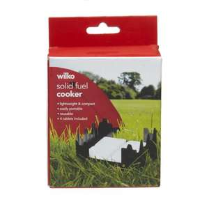 Solid Fuel Camping Stove, £2.24 @ Wilkinsons!