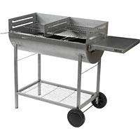 Blooma Adstock Half-Barrel Charcoal Trolley Barbecue - £59.99 @ B&Q Was £79.99