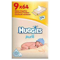Huggies Pure Wipes 9pk Just £6.28 From Tesco