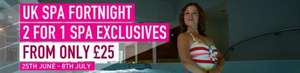 lastminute.com UK Spa Fortnight 2 for 1 on Spa Days and Breaks to 8th July from £25