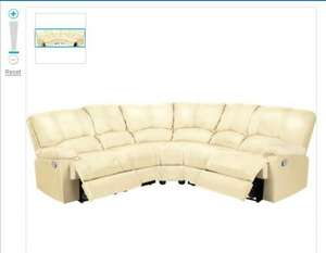Diego Leather Recliner Corner Sofa Group - Ivory - £499.99 @ Argos