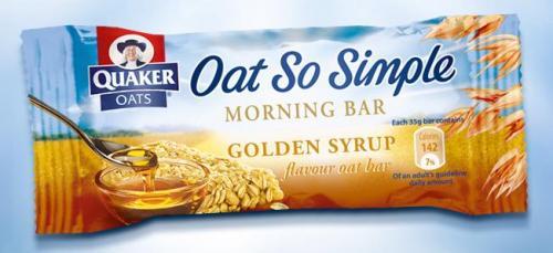 Free Quaker Oats Golden Syrup Morning Bar via Facebook