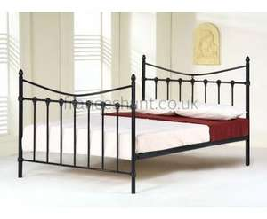 Tiara 3ft Black Kids Metal Bed £49.72 Delivered @ Frances Hunt