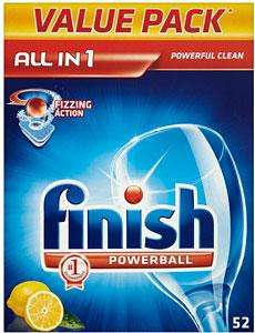 Finish All in 1 Powerball Dishwasher Tablets Lemon (52) - £8.00 @ Asda