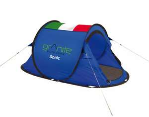 Granite Outdoors Sonic Pop up tents Various - £14.99 if collected instore or £19.94 delivered, was £59.99?? @ Yeomans