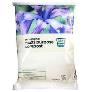 ASDA: 70 Litre Compost Previously £4.00/ 3 for £10 instore only NOW ONLY £2.00