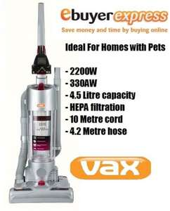 VAX U90P6P Power 6 Pet Upright 2200W 330 Air Watts Vacuum Cleaner Ideal For Home-£59.99+Quidco/TCB @ ebay [ebuyer express]
