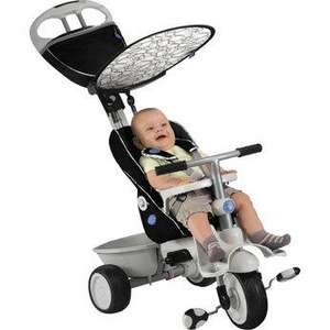 Smart Trike Recliner - Black- free next day delivery -age range: 6 months - 3 years. from ELC rrp £124.99