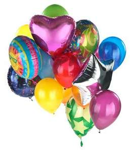 Pre-filled Foil Helium Balloons £1 in Poundland!!!!